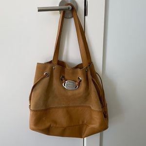 Furla Tan Suede bag